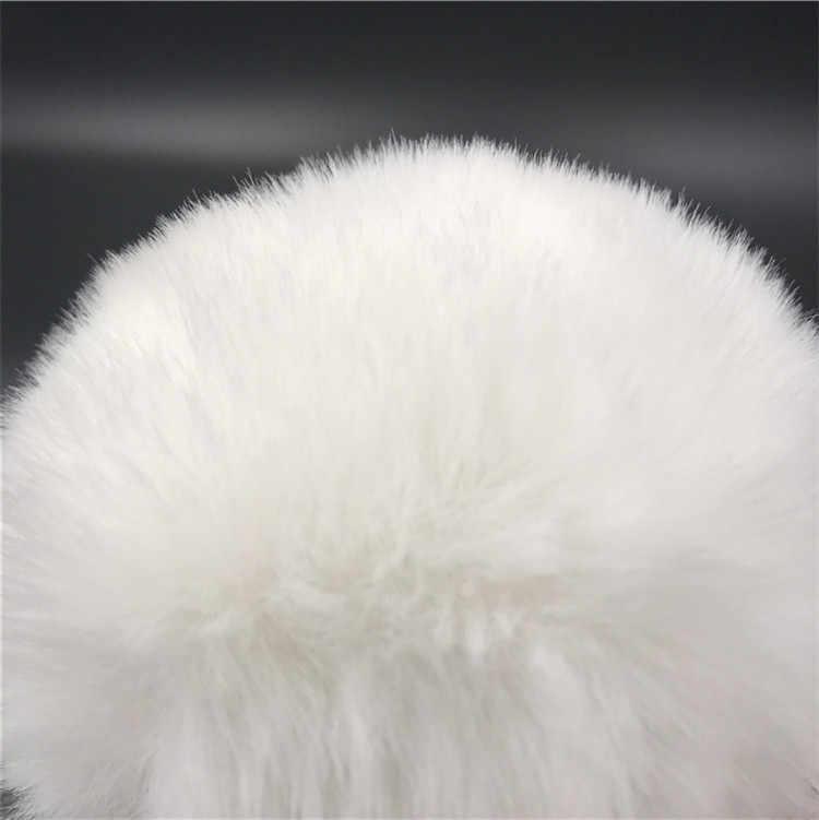 Bianco pelliccia di coniglio Coda Anale Plug Giocattoli Per Adulti Bunny Ragazza Del Sesso Butt Plug In Acciaio Inox Del Sesso Cosplay Coda Giocattoli le Coppie donna