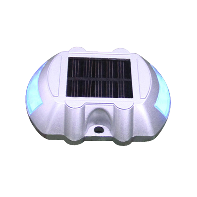 LED Solar Power Spike Light Waterproof Cast Aluminum Outdoor Road Stud Driveway Mountain Roads Pathway Lamp Ground Lights