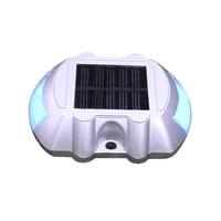 LED Solar Power Spike Light Waterproof Cast Aluminum Outdoor Road Stud Driveway Mountain Roads Pathway Lamp Ground Lights