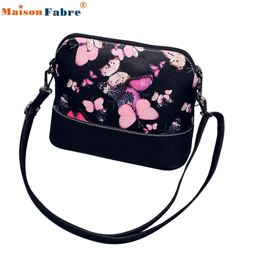 High quality Women Printing Shoulder Bag Leather Purse Satchel Messenger Bag