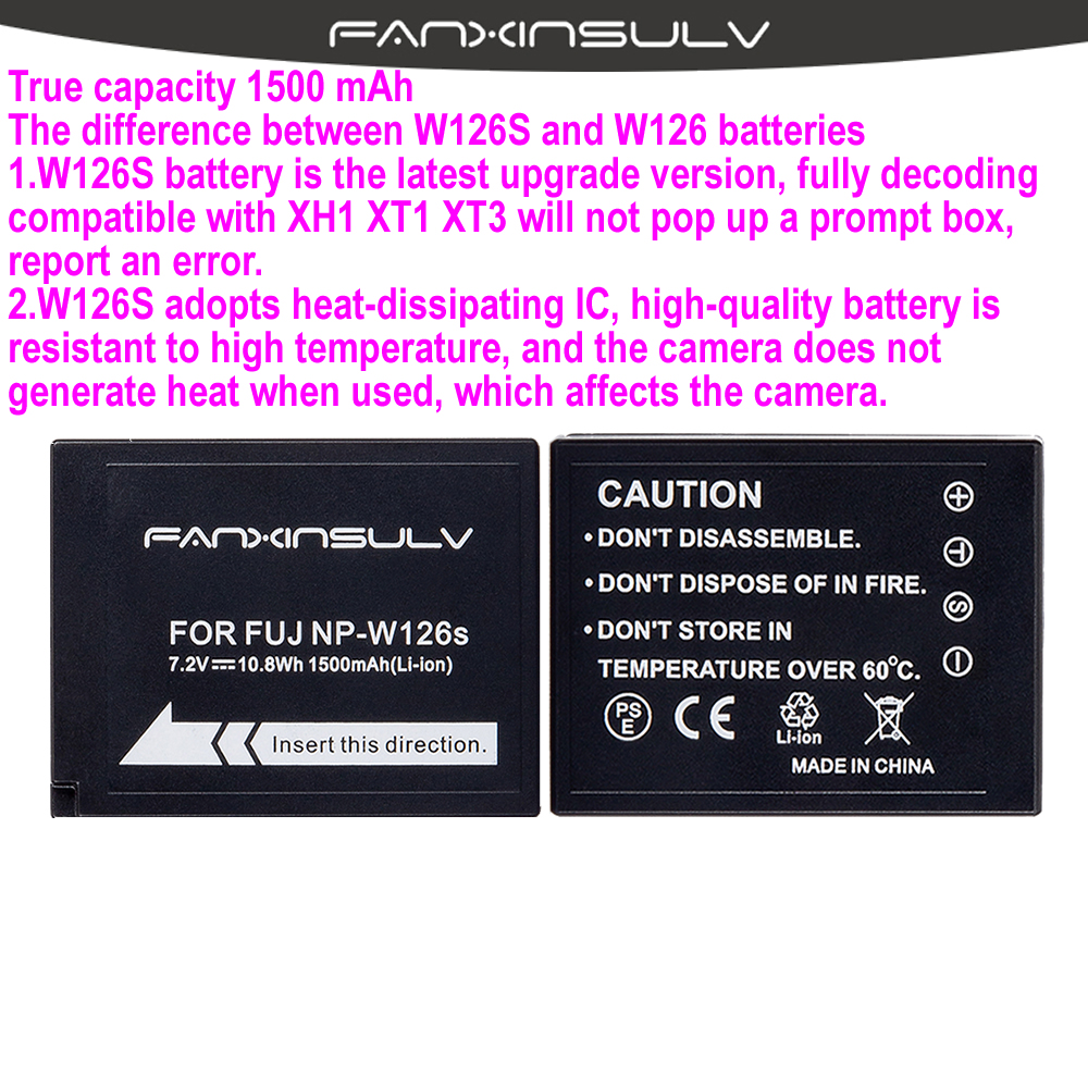 4x NP-W126S NP W126S Battery + USB Charger For Fujifilm Fuji XT3 XA5 XT20 XT2 XH1 XT10 XE3 X100F Xpro2 SHIP WITH TRACKING NUMBER