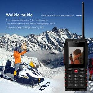 Image 2 - Ioutdoor T2 IP68 impermeable a prueba de golpes resistente para teléfono Walkie Talkie banco de energía para teléfono móvil linterna 4500mAh teclado ruso