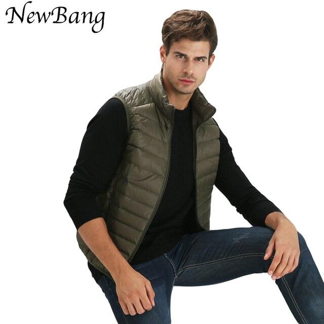 2016 New Colorful Men's Ultra Light Duck Down Vest Sleeveless Jacket Men Gilet  Mens Warm Vest