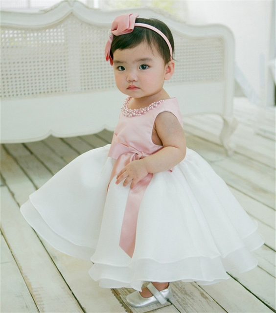 2018 Brand New Baby Girl Dress Wedding Infant Princess 1 2 Years ...