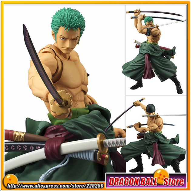 Japanese Anime ONE PIECE Original MegaHouse (MH) Variable Action Heroes Complete Action Figure - Roronoa Zoro japan anime one piece original megahouse variable action heroes action figure rob lucci