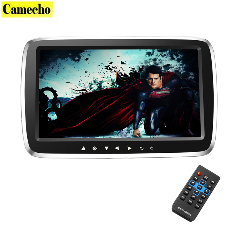 9 Ultra-thin Car Headrest Monitor DVD Display Screen MP5 KTV Music Player Support 1080PHD Movies with Touch Buttons
