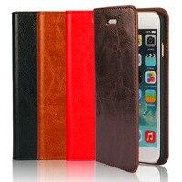 Hot Sprzedaży! nowy crazy horse ziarna skórzane etui telefon dla apple iphone 6s 4.7 cal portfel odwróć obudowa ochronna dla iphone6s
