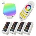 Mi luz dc5v wifi box + rf toque remoto + dc 12 v 24 v 2.4G Sem Fio 4 Zona Controlador para 5050 Tira Conduzida Luz RGBW RGBWW