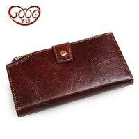 Men's leather long wallet fashion business bulk clutch bag vertical square leather multi card bit card package