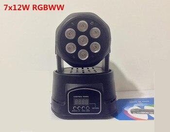 led wash moving head light 7x12w rgbw warm white 4in1 leds beam light  advanced DMX 9/14 channels dj band lights