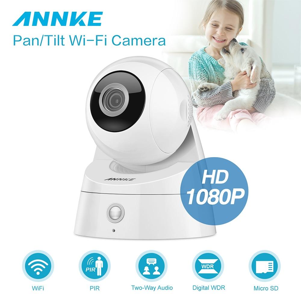 купить ANNKE HD 1080P Home Security Pan/Tilt Wi-Fi IP Camera Wireless Surveillance Security Camera IR Night Vision CCTV Baby Monitor