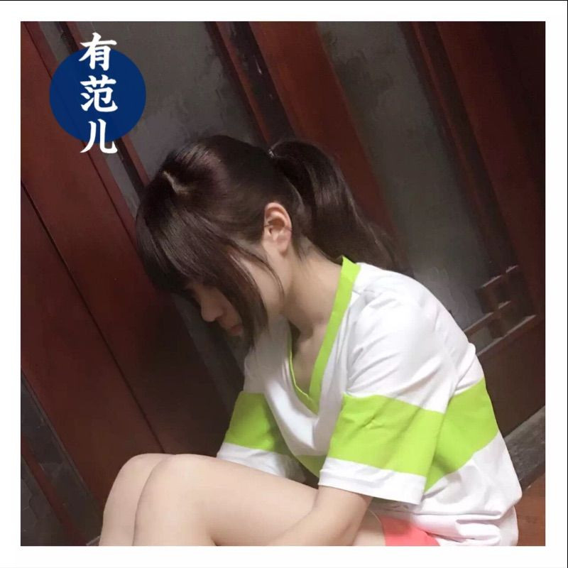 Image 2 - Spirited Away Chihiro Ogino Cosplay Costume Japan Anime Casual Costumes T shirt+Shorts-in Anime Costumes from Novelty & Special Use
