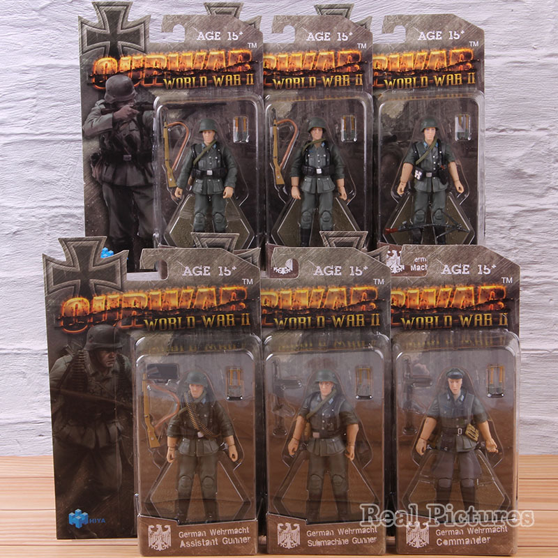 <font><b>1</b></font>:<font><b>18</b></font> Military Action <font><b>Figure</b></font> German Army Soldier Toys Soldiers Figurines PVC Collectible Model Toy 6pcs/set image