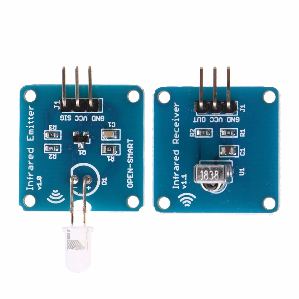 Big Deal Ne555 Infrared Transmitter Ir Receiver With 38khz Carrier Led Circuit Transceiver Module Active Components Sensors