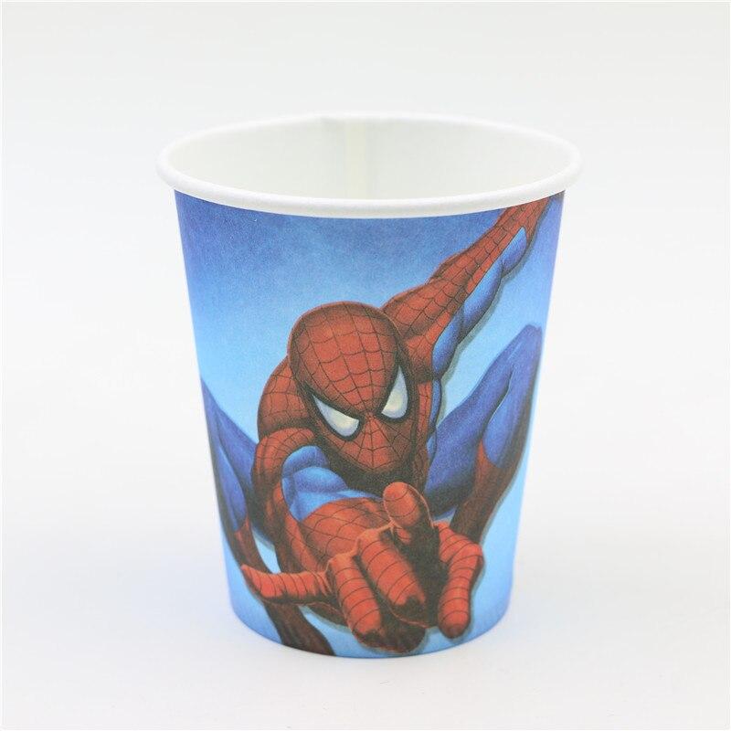 Fuentes Del Partido de fiesta de papel taza héroe de dibujos animados spideman 1