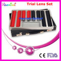266L-SL 268pcs Classic Optometry Trial Lens Set Case Plastic Color Rim Leather Case Packed Lowest Shipping Costs !