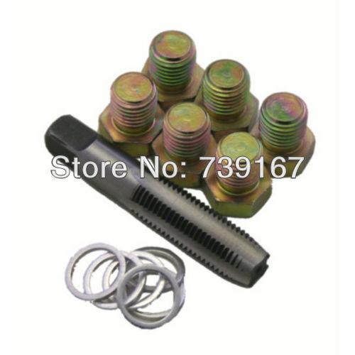 M17 X 1.5MM Car Oil Pan Thread Repair Tool Sump Drain Plug Removal Repair Replace Kit Auto Garage Tools ST0087D