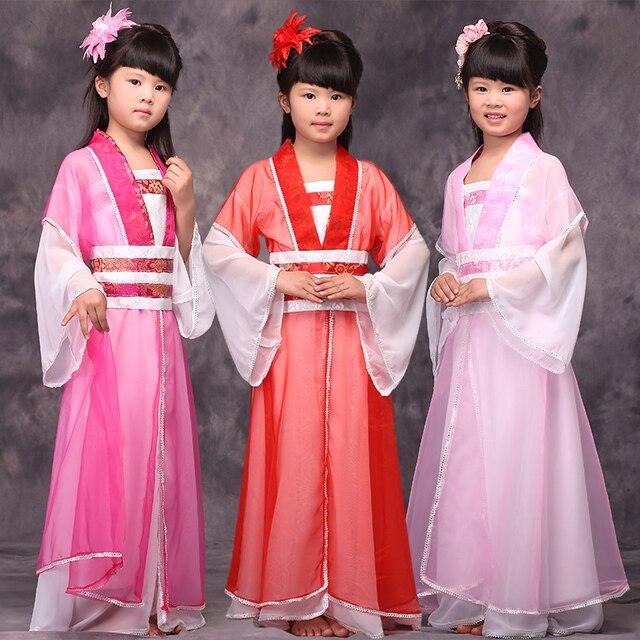 Китайский Древний Костюм Ребенок Костюм Одежды Повелительницы В Династии Тан Hanfu Девушки Принцесса Одежда 7 Костюм Феи Hanfu