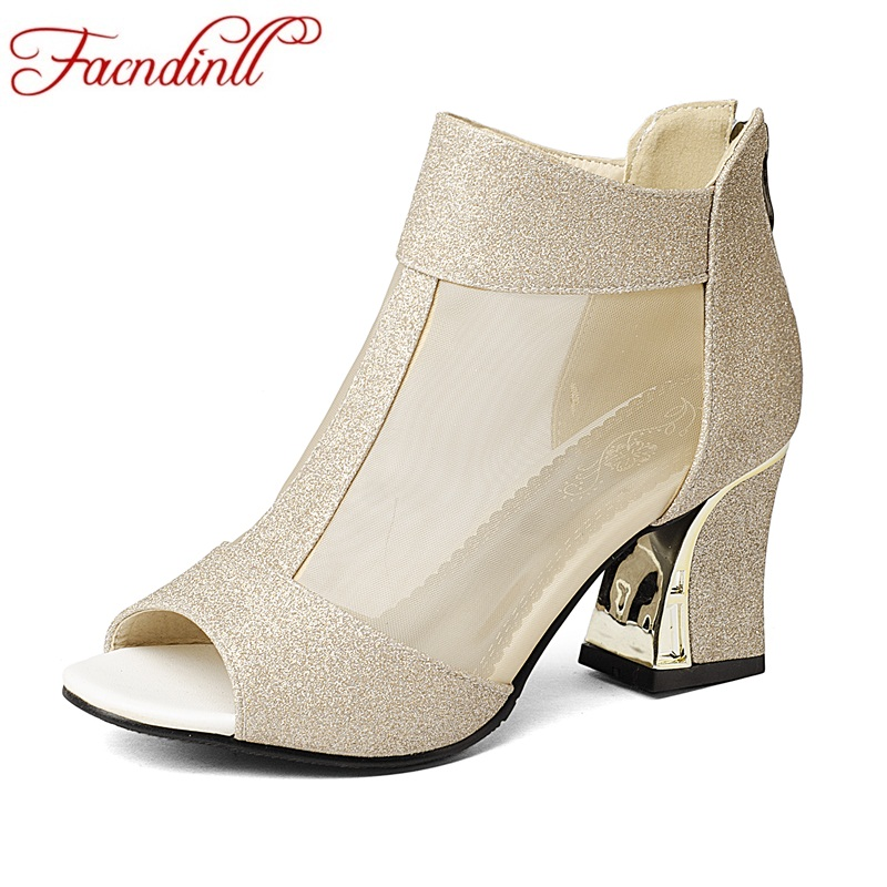 New summer ankle boots for women fashion cut-outs snadals ladies peep toe square high heel dress party shoes woman plus size 43 new 2017 spring summer women shoes pointed toe high quality brand fashion womens flats ladies plus size 41 sweet flock t179