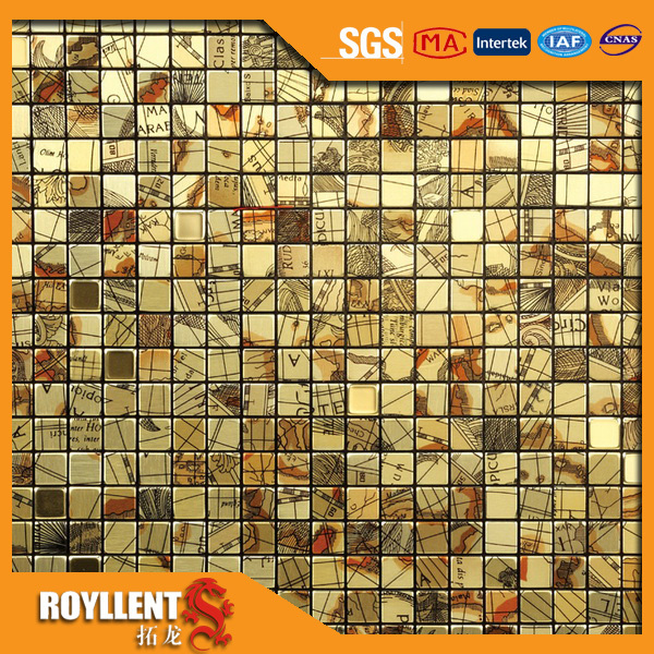 Royllent Acp DIY self adhesive mosaic wall sticker kitchen ...
