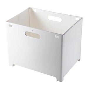 Folding Wall Mounted Laundry Basket Plastic Laundry Hamper Dirty Clothes Storage Basket Organizer for Laundry Room|Laundry Baskets|   -