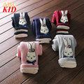 New Winter corduroy pants for girl rabbit leggings fleece bow floral legging kids slim pants Girls leggings trousers KD135