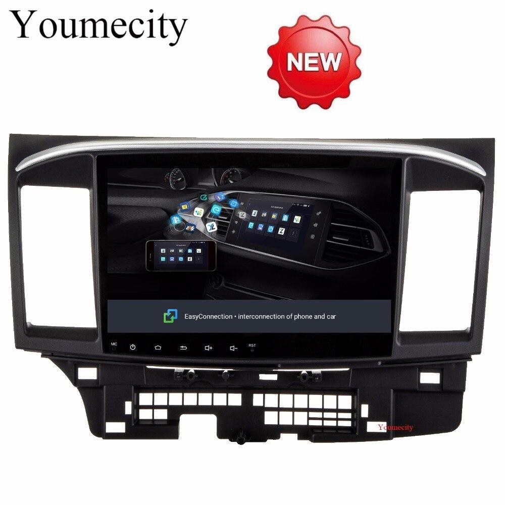 Youmecity 2g RAM Android 8.1 2 DIN Voiture DVD GPS pour MITSUBISHI LANCER 2008-2016 headunit lecteur vidéo wifi Radio vidéo Stéréo