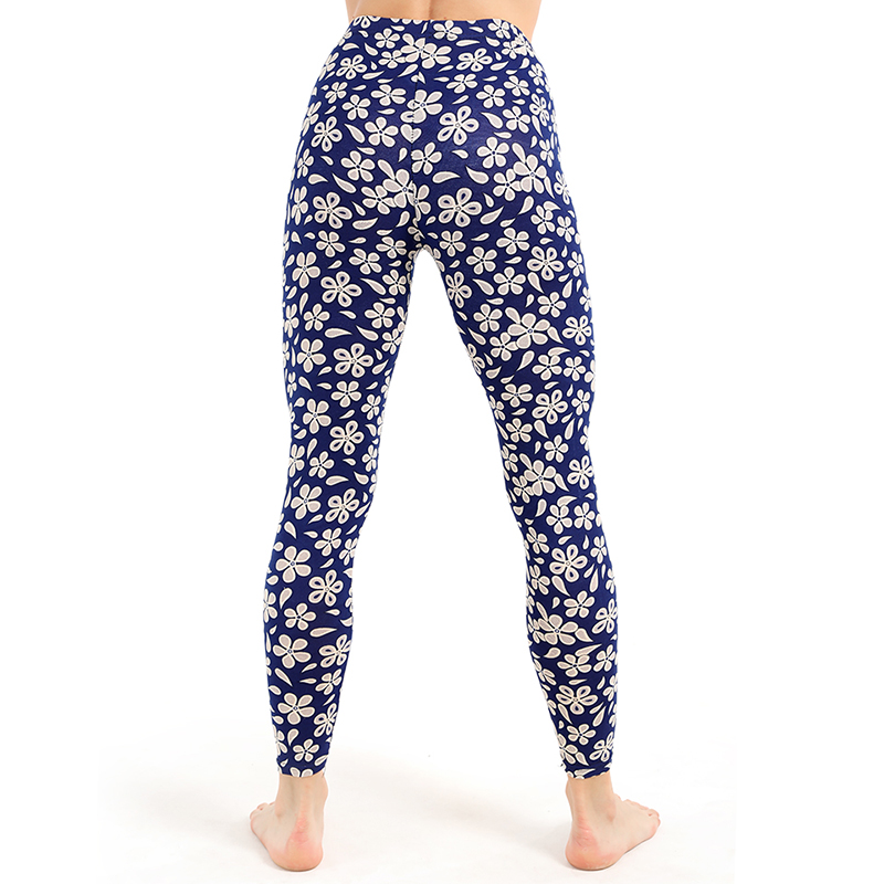 Yesello High Waist Floral Print   Leggings   Women Vintage Thin Ankle-Length Skinny Leggins Sexy Skinny Stretch Pants Trousers