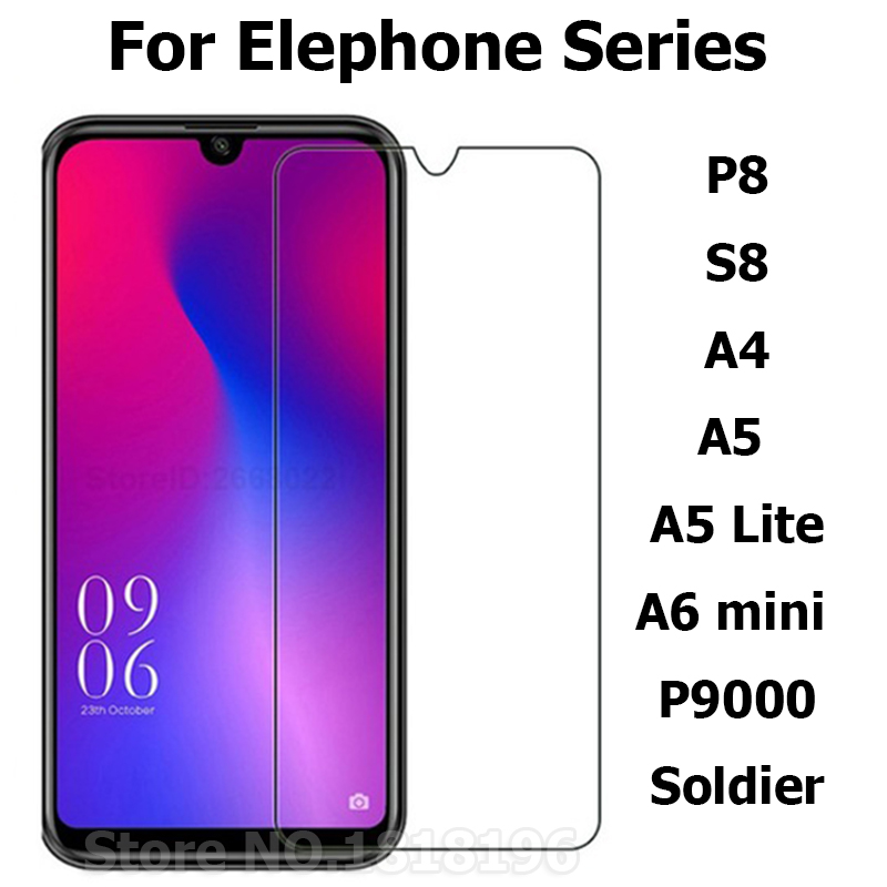 Elephone A5 Lite Case Glass Cover Tempered Glass For Elephone P9000 A4 A6 Mini S8 Phone Film Elephone Soldier Screen Protector