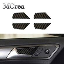 Автомобильные наклейки MCrea для Volkswagen VW Golf 7 GTI R GTE GTD MK7 2017, дверная ручка, рама чаши, чехол из углеродного волокна, аксессуары для стайлинга