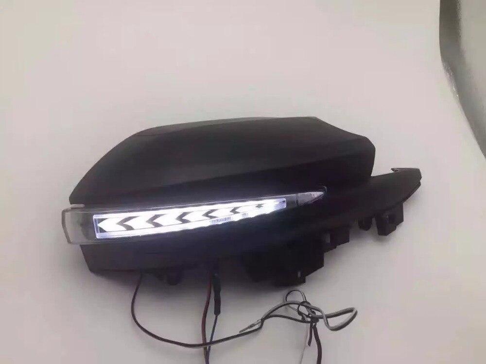 eOsuns СИД зеркало заднего лампа для Тойота alphard 2015 30г, с движущимися поворотник, наземные лампы, светодиодные DRL фары дневного света