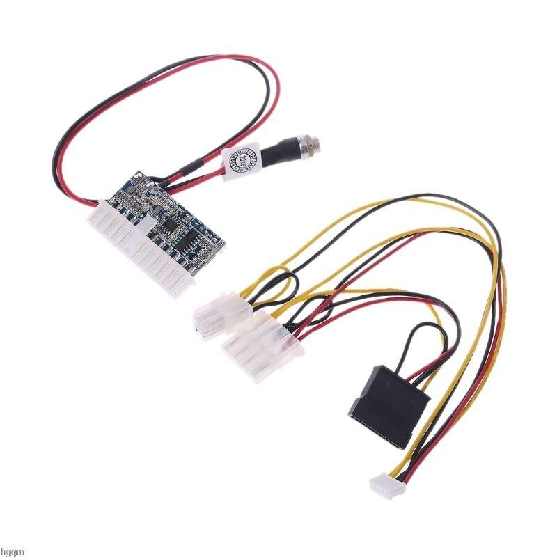 DC 12 V 160 W 24 broches ATX commutateur PSU voiture Auto Mini ITX Module d'alimentation câble livraison directe