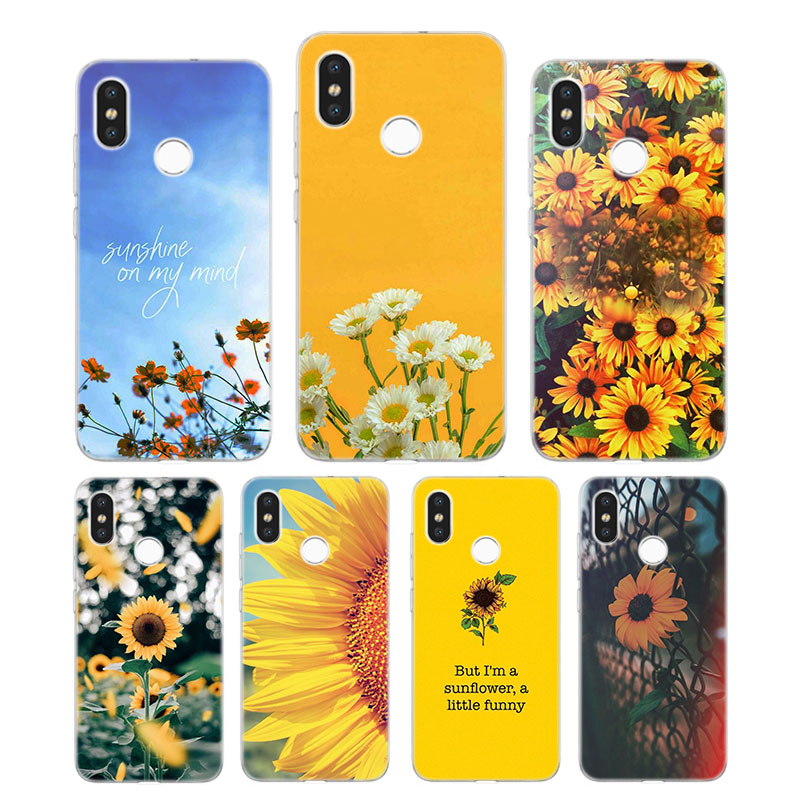 Silicone Case Sunfowers fantasy show Printing for Xiaomi Mi 6 8 9 SE A1 5X A2 6X Mix 3 Play F1 Pro 8 Lite Cover image