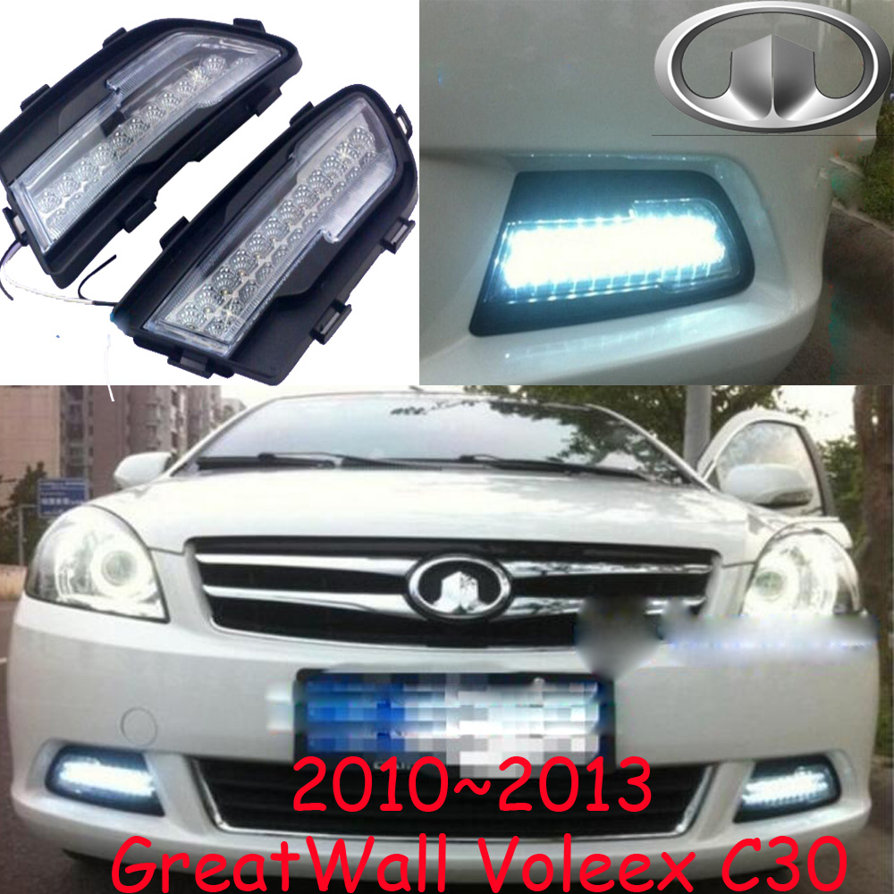 Great Wall VOLEEX C30 fog light LED 2010~2013;Free ship!VOLEEX C30 daytime light,2ps/set+wire ON/OFF:Halogen/HID XENON+Ballast, sorento fog light 2009 2012 free ship sorento daytime light 2ps set wire on off halogen hid xenon ballast sorento