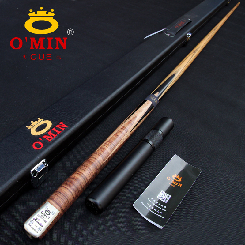 Professional High-end Handmade O'MIN HUNTER 3/4 Piece Snooker Cue Kit with Good Case with Telescopic Extension Snooker Stick Cue omin snooker cue model century dream union the top level 145cm length 10mm cue tip ash wood 3 4 handmade billiard stick page 9