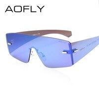 AOFLY Fashion Brand Cool Sunglasses Women Sun Glasses Rimless Sunglasses Mirror Glasses Women Goggles Occhiali Da