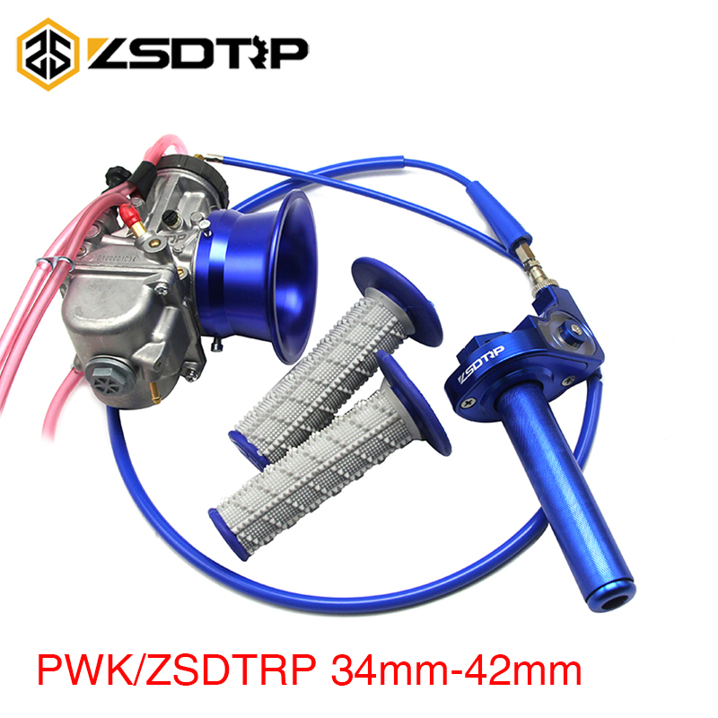ZSDTRP For 2T 4T Engine Motorcycle PWK 34 36 38 40 42mm Carb Carburetor With Handle
