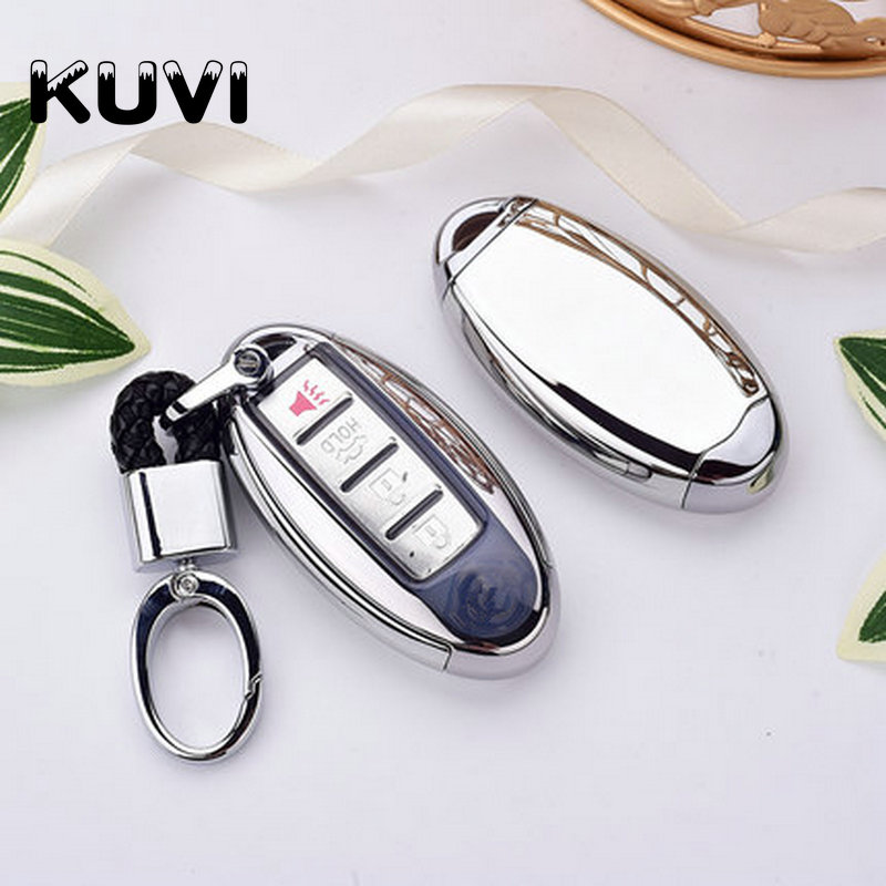 TPU PC Car Remote Key Cover Case key chain For Nissan Qashqai J10 J11 X-Trail t31 t32 kicks Tiida Pathfinder Murano Note Juke
