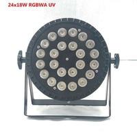 dj light 24x18W RGBWA UV 6in1 Par led led par wash par led LED Flat Par Can Lighting for Party KTV Disco light