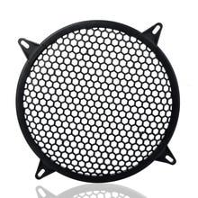 8 Inch Black Metal Mesh Round Car Subwoofer Speaker Cover