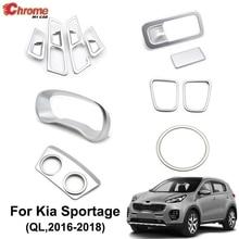 For Kia Sportage QL 2016 2017 2018 2019 Chrome Interior Air Vent Cover Glove Box Instrument Panel Trim Decoration Car Styling