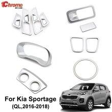 Voor Kia Sportage Ql 2016 2017 2018 2019 Chrome Interieur Air Vent Cover Handschoenenkastje Instrument Panel Trim Decoratie Auto styling