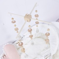 1 PC 0 12 Months Baby Mobile Crib Bed Bell Rattle Toy Natural Wooden Beads Wind Chime Pendant DIY Crafts Accessories Decorative