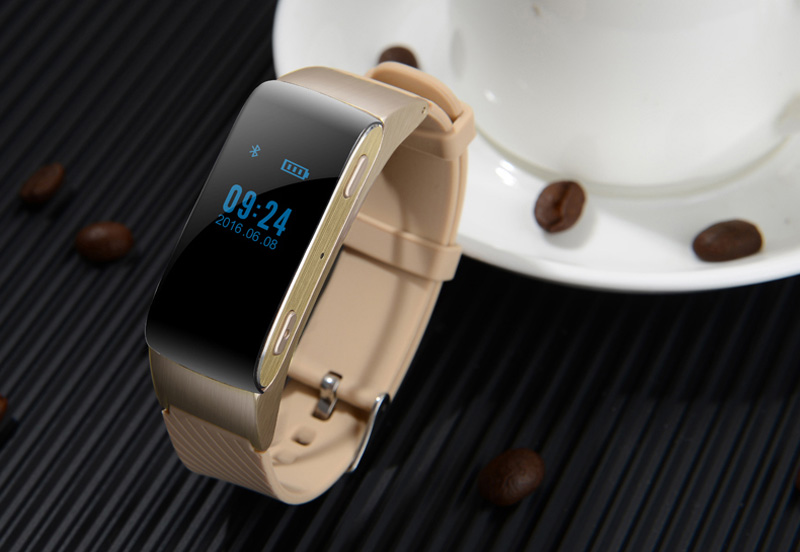 Smart Wristband Wearable Devices 2 In 1 Bluetooth Earphone Smart Bracelet Clock for Iphone Xiaomi Huawei Sony Wearable Devices