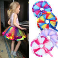 Fashion Girls Toddler Baby Princess Kids Sundress Rainbow Tulle Tutu Skirt 0-10 T