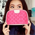 Free shipping Fashion solid womens cosmetic bag pillow makeup bags High-quality Non woven fabric pink toiletry bag