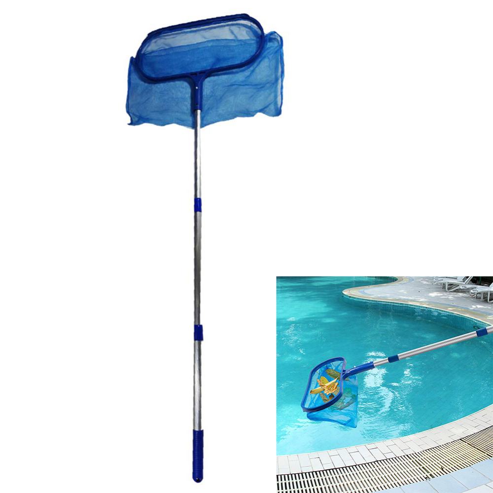 New Arrival Swimming Pool Accessories Skimmer Net with Adjustable Telescopic Pole Deep Bag Net Water Surface Debris Cleaning Net in Pool Accessories from Sports Entertainment