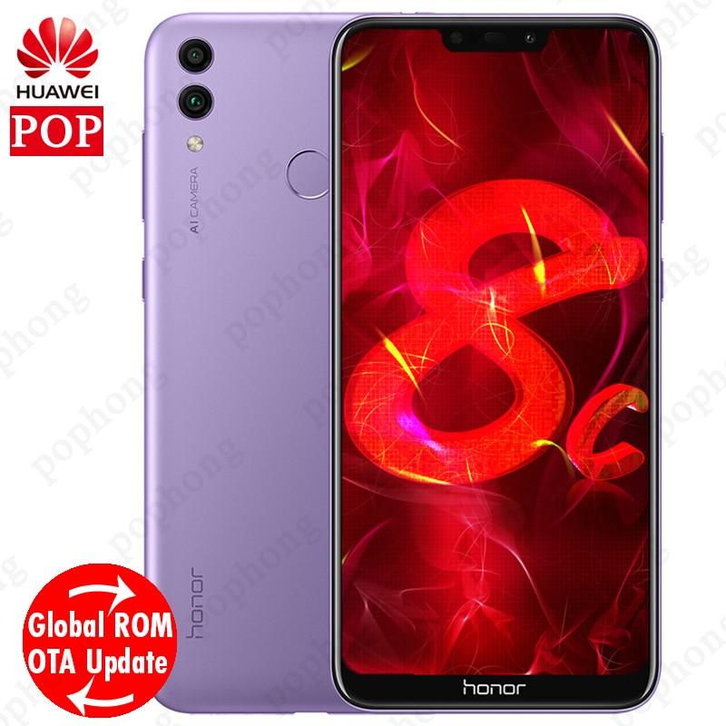 Mondiale Firmware Huawei Honor 8C Octa base Smartphone 6.26 »Full Écran HD + 1520×720 Qual-comm 4000 mah 3 Cartes VoLTE