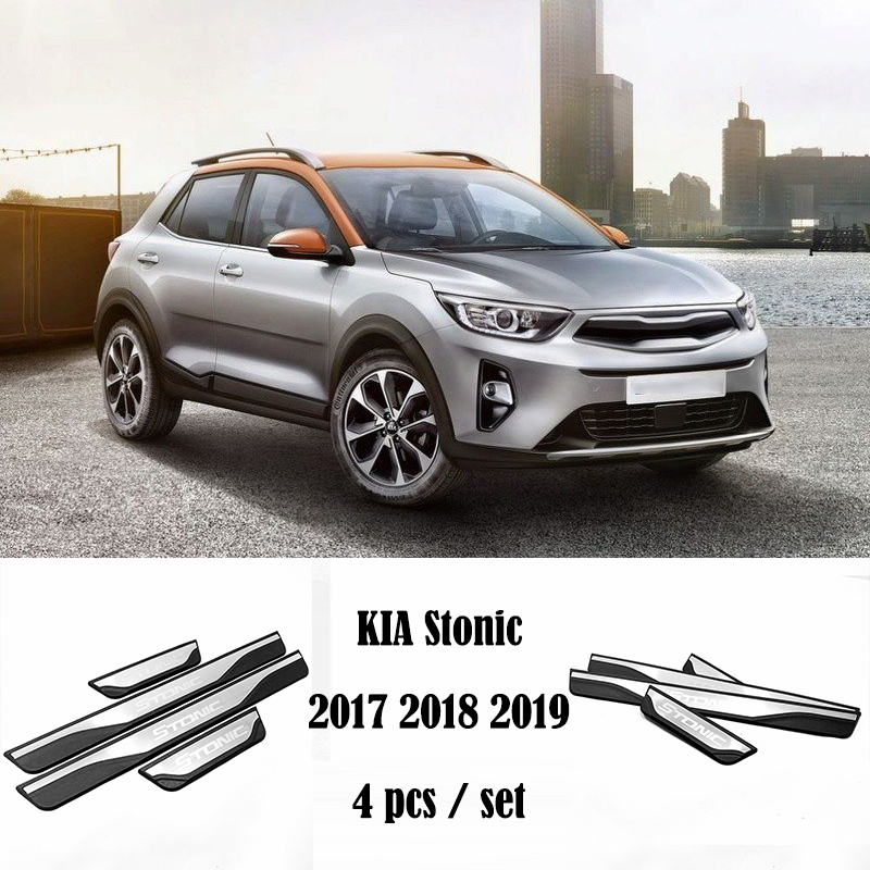 Fits Kia Sorento 2016-18 Stainless Steel Rear Outer Bumper Protector Cover Trim