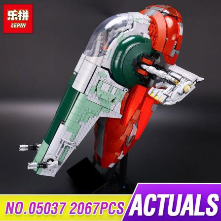 LEPIN 05037 Star UCS Wars Slave Model NO.1 2067pcs Building Block Bricks Educational Kits Compatible 75060 Children Gift lepin 05037 ucs slave toys no 1 model 2067pcs star wars building block bricks toys kits compatible legoing 75060 children hediye